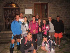 1. 11 - те участници от ТДСтратеш, Ловеч на старта на похода 100 км за 24 ч. на х.Мазалат